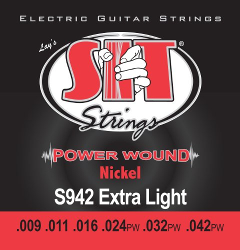 SIT -エスアイティー- エレクトリックギター弦 POWER WOUND -Nickel Round Wound EXTRA LIGHT 009-042x 1セット S942