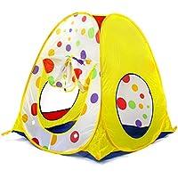 子供の遊びのテントトンネル赤ちゃん遊び家屋内遊園地プラスチック製のおもちゃの部屋 (Color : Yellow, Size : 92 * 92 * 96cm)