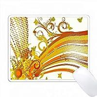 オレンジ、イエローはストライプのバナーで盛り上がります PC Mouse Pad パソコン マウスパッド