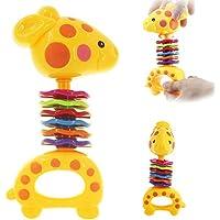1pcs Mini Deer Baby Rattleおもちゃカラフルな教育Fun Little Loud Jingle Ball Grasping Abilityおもちゃクリスマスギフト815 cm