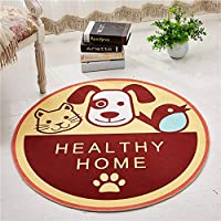 YETUGE-X 絨毯カーペット 円形 ラグマット ラグカーペット 洗える 抗菌 防臭 おしゃれ カーペット対応 軽量 滑り止め おしゃれ