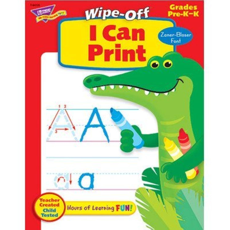 I Can Print Z-b 28pg Wipe-off Books [Set of 2]