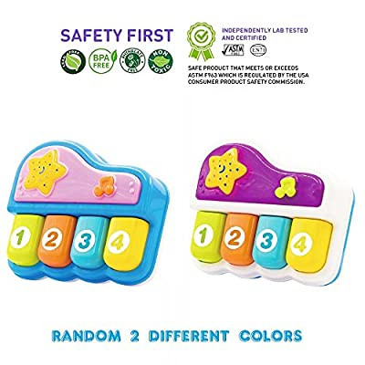 Baby Portable Piano. Educational Toy for Music Learning and Entertainment for Ages 9 Month to 4 Years. Safe for 6 Months +