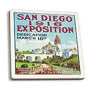 San Diego International Expositionポスター 4 Coaster Set LANT-4465-CT