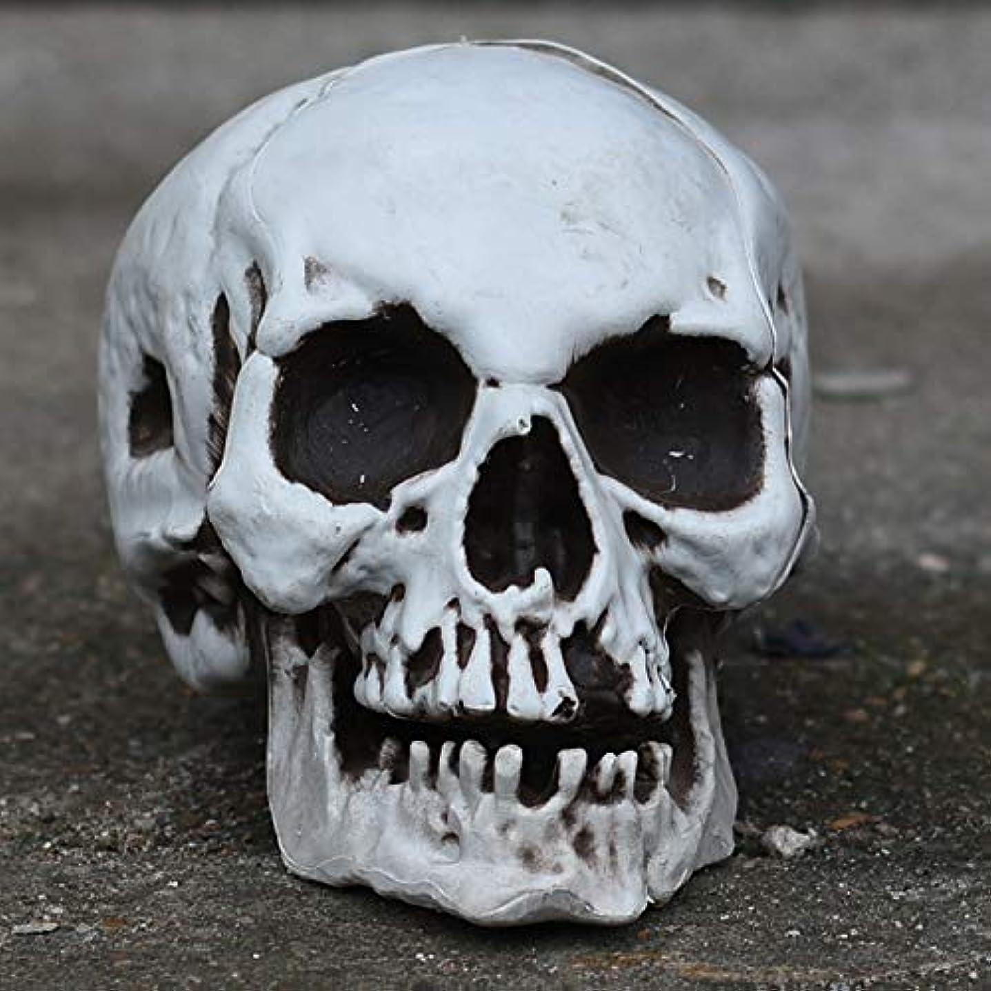 破壊的ポークバナーETRRUU HOME 腐ったゴーストハロウィンバーお化け屋敷シークレットルームスカルヘッド装飾品シミュレーション人骨モデルコスプレ装飾