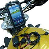 PRO Waterproof Motorcycle 'Direct to Battery' Powered Mount for Samsung Galaxy S3 GT-i9300 / SGH-i747 / SCH-i535 / SPH-L710 / SGH-T999 [並行輸入品]