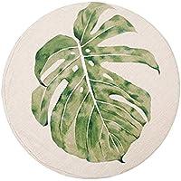 リネン布団 厚い丸いバルコニーのウィンドウの窓の畳のクッションリムーバブルと洗える,A(a),50x50cm / 8cm