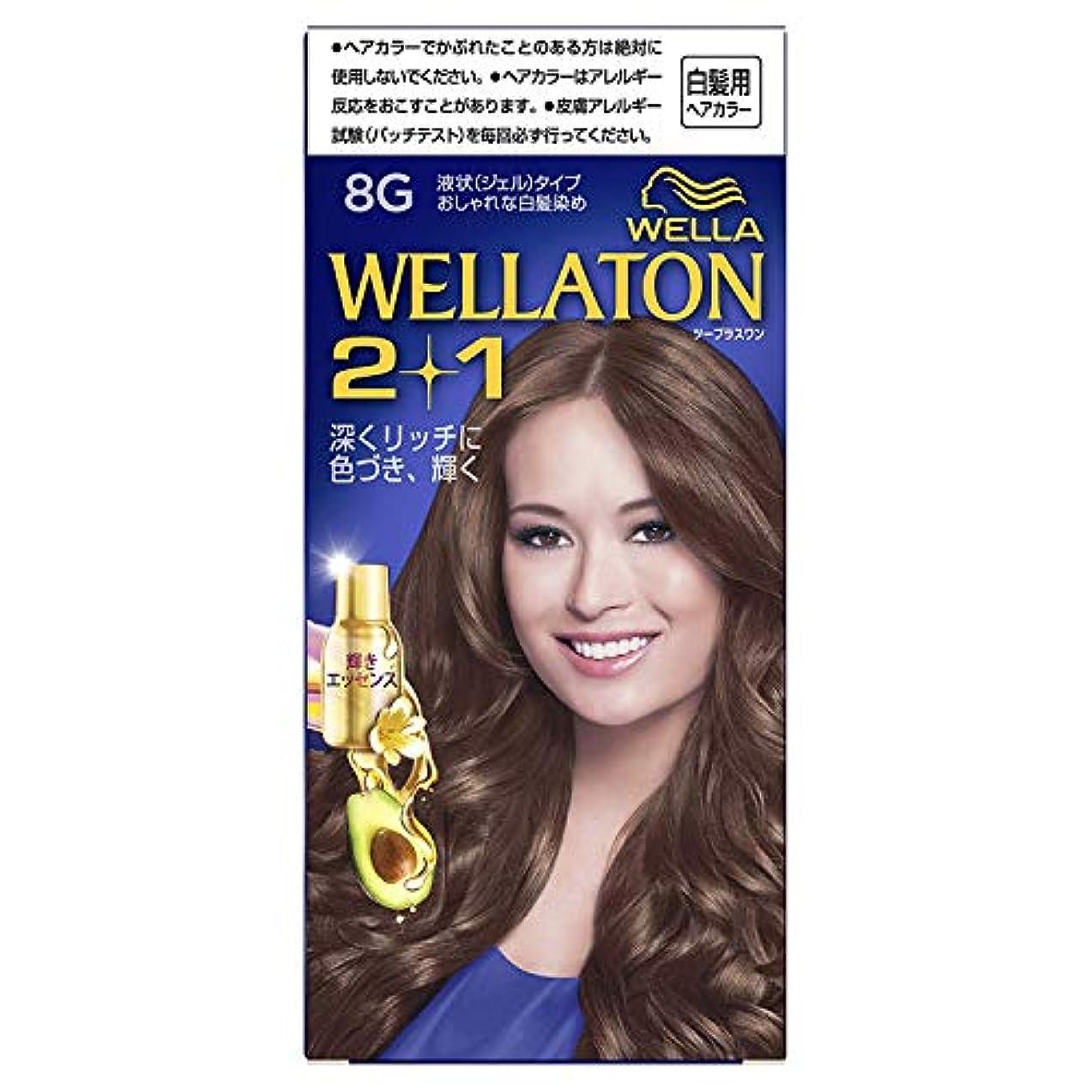 拡声器未知の一貫性のないウエラトーン2+1 白髪染め 液状タイプ 8G [医薬部外品] ×6個