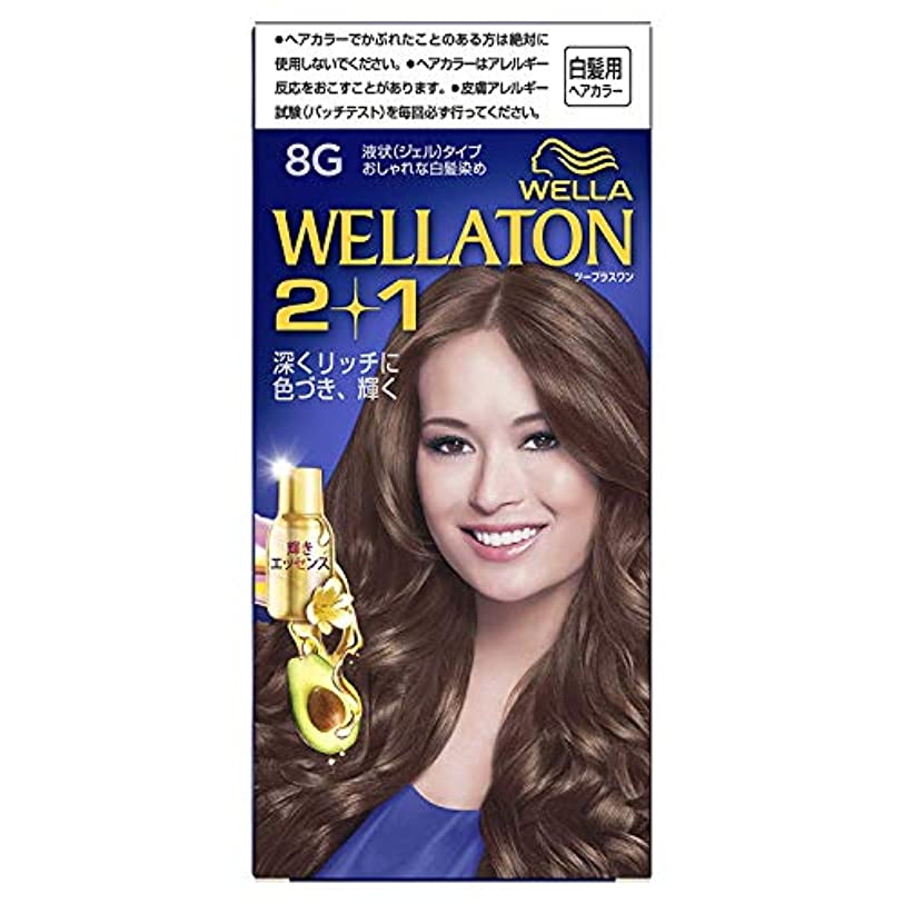 最愛の圧倒する弱めるウエラトーン2+1 白髪染め 液状タイプ 8G [医薬部外品] ×6個