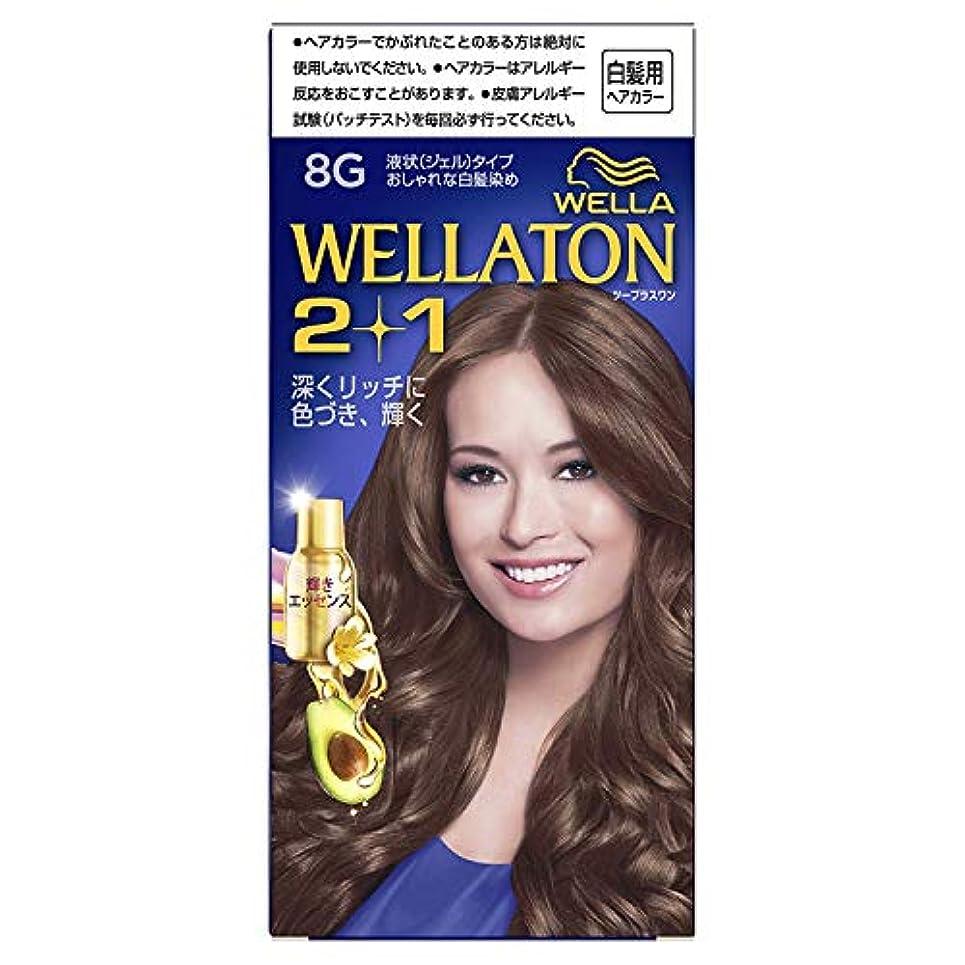 トラップ十分脚本ウエラトーン2+1 白髪染め 液状タイプ 8G [医薬部外品] ×6個