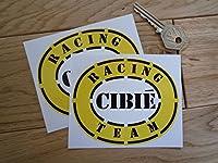 Cibie Racing Team Oval Stickers シビエ ステッカー シール デカール 海外限定 100mm x 83mm 2枚セット
