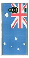 au URBANO V03 ハードケース VA973 オーストラリア ステッチ風 素材クリア
