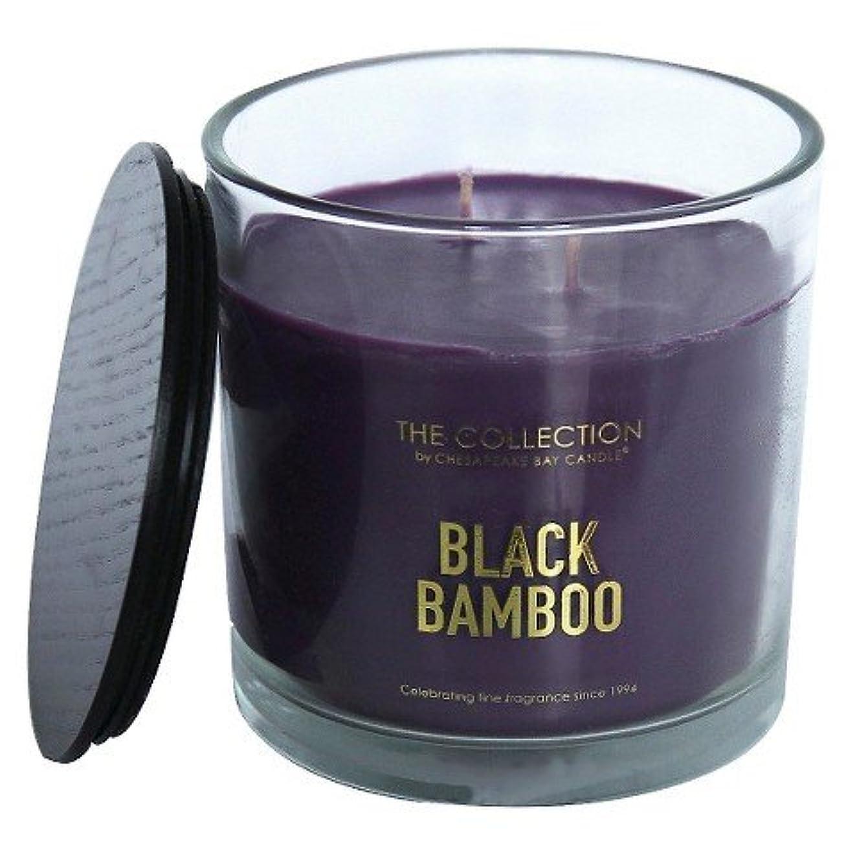 ハンカチ侵入脈拍Theコレクションブラック竹Jar Candle