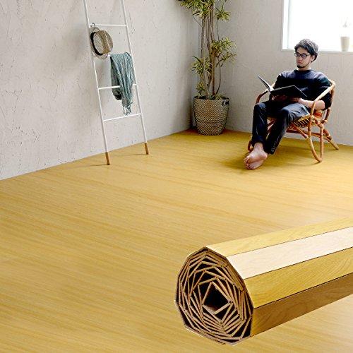 ウッドカーペット 6畳用 江戸間6畳用 260x350cm [ナチュラル色] [GA-60シリーズ] [4色展開] DIY フローリング 木目 簡単 敷くだけ シート セルフリフォーム 低ホルマリン [並行輸入品]