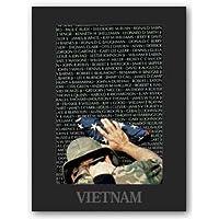 """ベトナムメモリ壁by Peter Marlow 25"""" x16.75""""アートプリントポスター"""