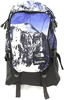 (シュプリーム)SUPREME ×ノースフェイス 【17AW】【week15/The North Mountain Expedition Backpack】マウンテン総柄バックパック(ブルー) 中古