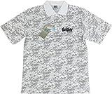 BADBOY バッドボーイ BB-1027S 迷彩柄 半袖ポロシャツ (O, ホワイト)