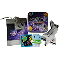 Stem Space Shuttle Toy w / Fun Playingカードゲームby QuriousスペースAges 3 +バンドルW /宇宙飛行士Stress Toy、パズル&ボーナススターギフトバッグThe Perfect Holidayおもちゃ 誕生日ギフトセット