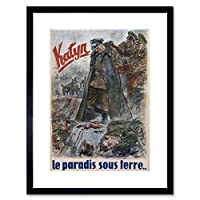 War WW2 Katyn Polish Officer France Vintage Advert Framed Wall Art Print 戦争フランスビンテージ広告壁