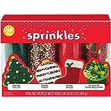 Wilton Mega Sprinkles 4-Pack 17.3oz, W7107654, Traditional Christmas, 19.3 Ounce