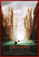 "The Lord of the Rings – The Fellowship of theリング – 映画ポスター/印刷( Argonath Teaser ) (サイズ: 27 "" x 40 "" ) 27"" x 40"" Red Plastic Frame"