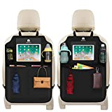 Meinkind 2枚セット シートバックポケット 車用収納ポケット キックガード 後部座席収納 防水防汚 多機能 10インチiPad収納可能
