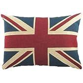 英国旗/ユニオンジャック クッション 18インチ×13インチ(46cm×30cm)