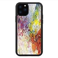 iPhone 11 Pro Max 用 強化ガラスケース クリア 薄型 耐衝撃 黒 カバーケース 抽象 水彩絵の具 iPhone 11 Pro 2019用 iPhone11 Pro Maxケース用