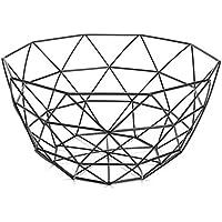 TOOGOO 北欧スタイルフルーツバスケット ワイヤー装飾金属収納バスケット 黒いディスプレイボウル果物のラック 野菜テーブルダイニングの装飾