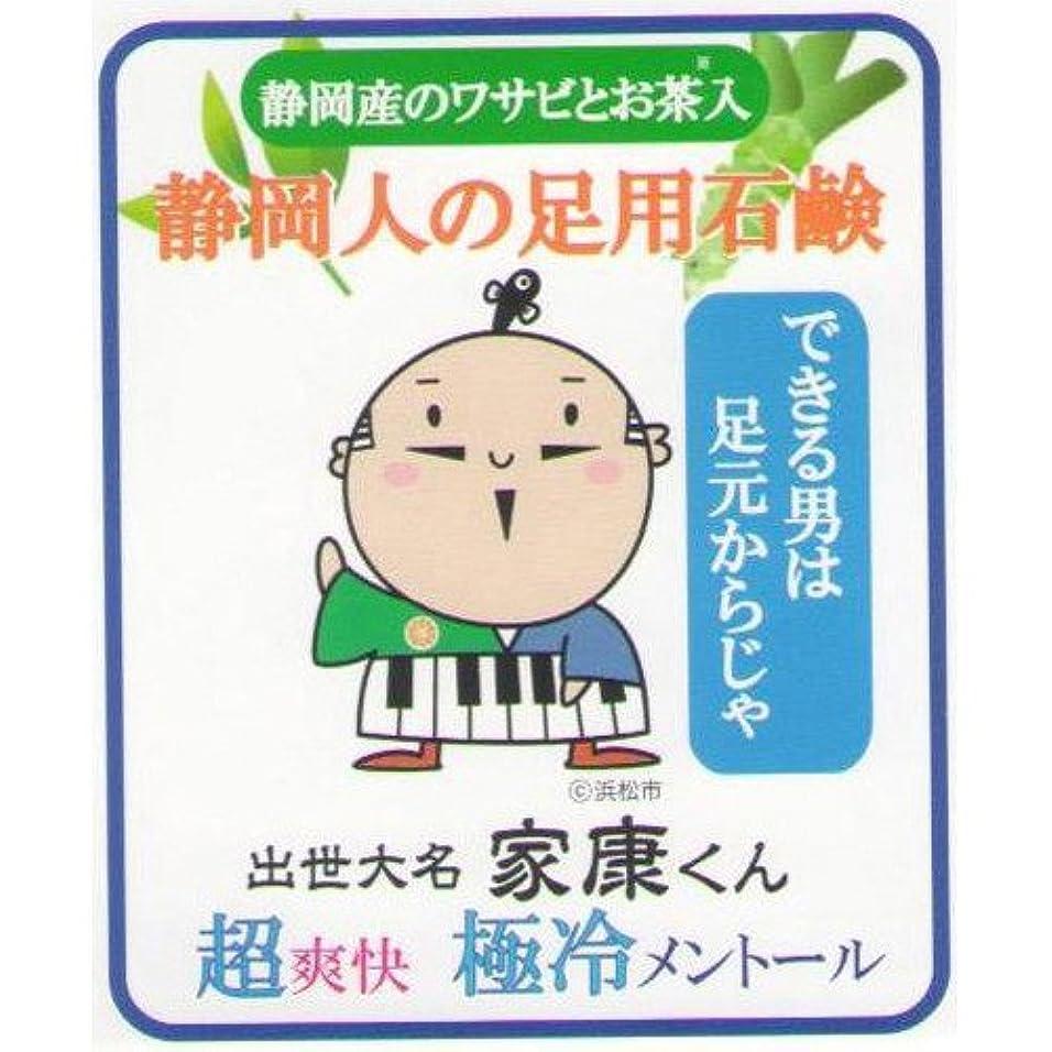 天端テレビを見る静岡人の足用石鹸 極冷メントール 60g ネット付き