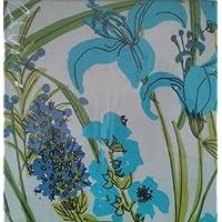 Vera Neumannセットの4つの布ナプキンLilliesブルー