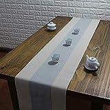 テーブルランナー ホームデコレーション 北欧 スタイル シンプル 工芸品 長方形 エレガント お茶会 ディナーパーティー 家庭用 キッチン (Color : Silver, Size : 30*160cm)