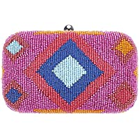 From St Xavier Women's Dakota Box Clutch, Orange/Blue, One Size