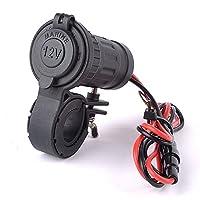 Shiwaki オートバイ USB 電源ソケット 充電器 12V 軽量デュアル