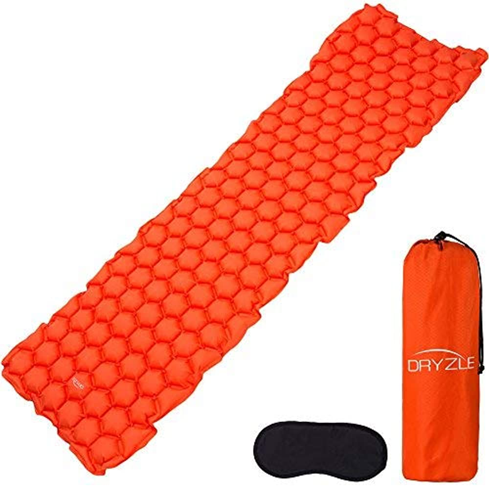 ブラザー挑発する百年Dryzle Inflatable Lightweight Sleeping Pad - Compact Bed & Ultralight Camping Air Mattress with Foam Pads, Portable Blow Up Mat Great for Backpacking, Travel, Outdoor and Hiking [並行輸入品]