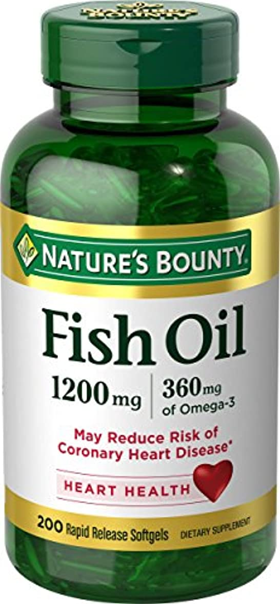 平和工夫する一時停止海外直送肘 Nature's Bounty Fish Oil, 1200 mg, 180 caps