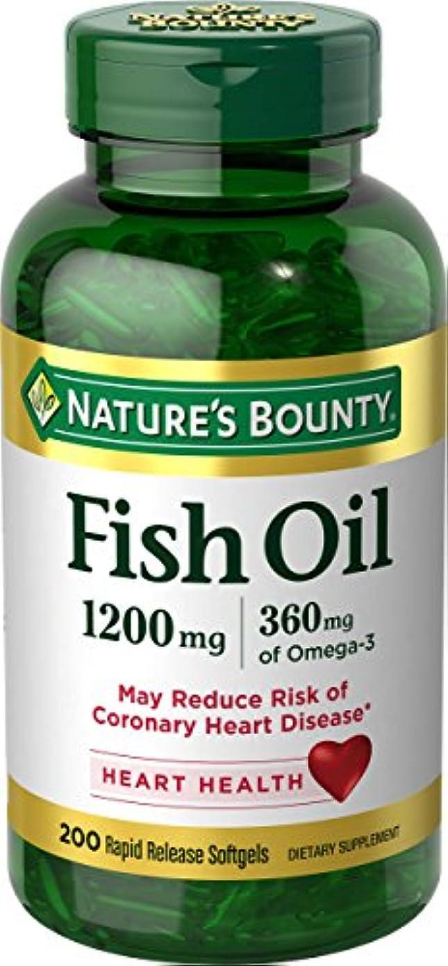 日曜日公然と不実海外直送肘 Nature's Bounty Fish Oil, 1200 mg, 180 caps
