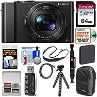 Panasonic Lumix DMC - dmc-lx104K Wi - Fiデジタルカメラwith 64GBカード+バッテリー+ケース+三脚+ Flexスリングストラップ+キット