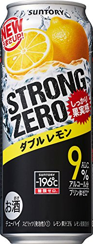 サントリー チューハイ -196℃ストロングゼロ<ダブルレモン> 500ml×24缶
