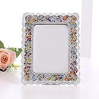 化粧鏡 HDヨーロッパスタイルのミラーミラー化粧鏡折り畳み式のポータブルミラー大ミラー 化粧鏡