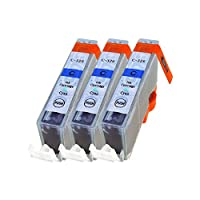 CANON BCI-326C ×3【シアン3本セット】 ICチップ残量表示検知機能付き Mt.Smile製純正互換インクカートリッジ 【365日保証】サービス