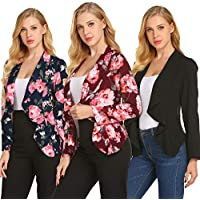 ZHENWEI Lightweight Blazer Jacket for Women Casual Work Office Draped Open Front Blazer Cardigan