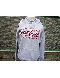 大人気コカコーラ!★スエットパーカー(Lサイズ) Coca-Cola/グレー プルオーバーパーカー パーカー USA