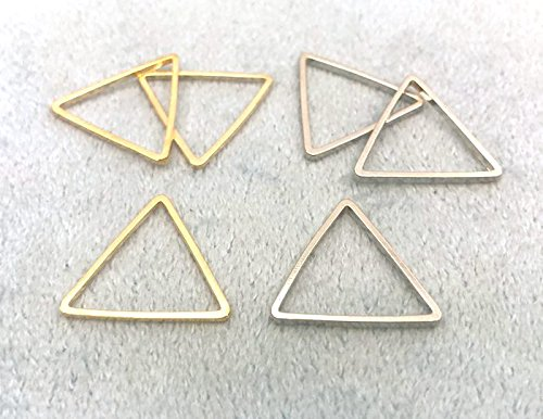 ◆ フレームパーツ 三角形 20*18mm 20個入り 真鍮製 フレーム アクセサリー金具 枠 マットゴールド
