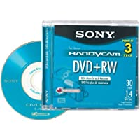 Sony 8cm DVD plus RW with Hangtab 3 Pack (Discontinued by Manufacturer) [並行輸入品]