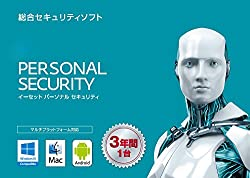 ESET パーソナル セキュリティ (最新版) | 1台3年版 | カード版 | Win Mac Android対応