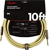 Fender シールドケーブル Deluxe Series Instrument Cable, Straight/Straight, 10', Tweed 08