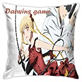 Darwin's Game 枕カバー 車の枕 抗菌 家庭用 オフィス 45*45cm