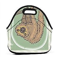 收纳包手提包 Feeling Extra Sloth Today Sloth Animals 断熱防水通学ハンドバッグレディース、大人、子供、、ガールズ