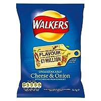 Walkers Crisps - Cheese & Onion (32.5g) 歩行者のポテトチップス - チーズとオニオン( 32.5G )
